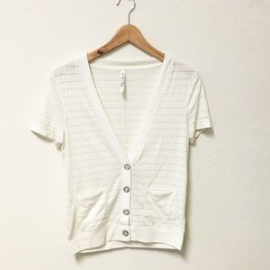 Aeropostale ivory cardigan top blouse SMALL
